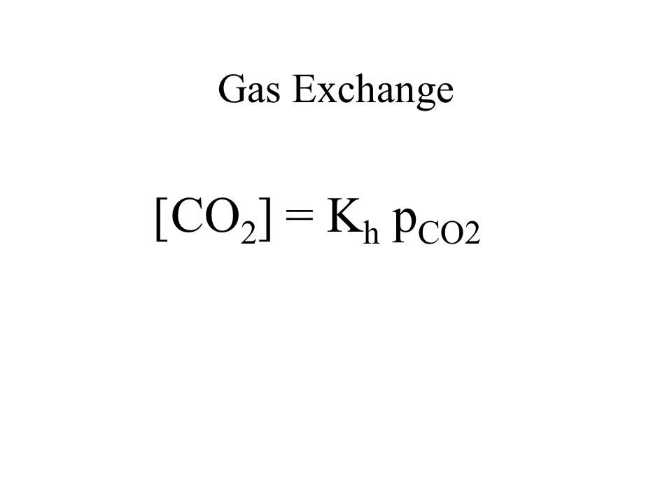 Gas Exchange [CO2] = Kh pCO2
